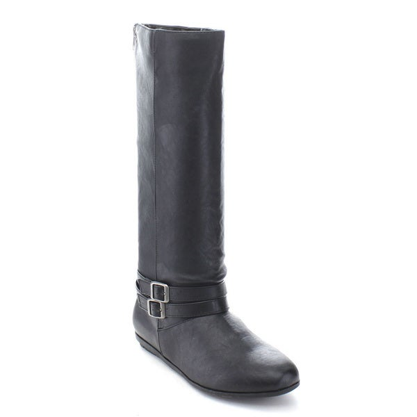 Qupid Ridge-01A Women's Knee High Riding Boots