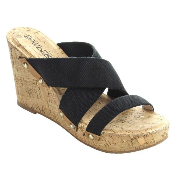 Bumper Angela12 Women's Slip-on Platform Wedge Sandals