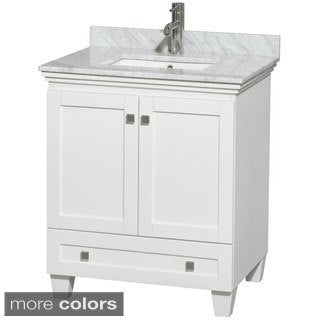 Wyndham Collection Acclaim White 30-inch Single Bathroom Vanity