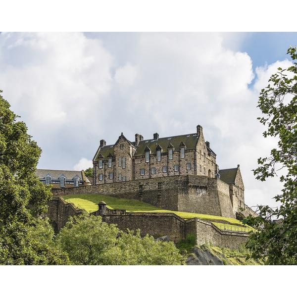 Stewart Parr 'Edinburgh Castle in Edinburgh Scotland from Princes Street (UK)' Unframed Photo Print
