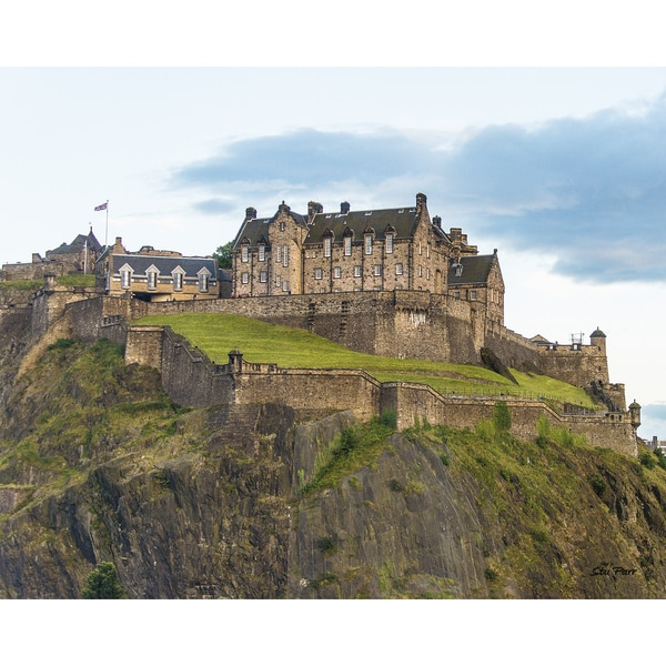 Stewart Parr 'Edinburgh Castle from Kings Stables Street in Edinburgh Scotland (UK)' Unframed Photo Print