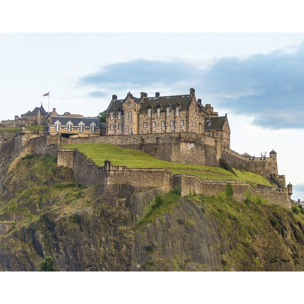 Stewart Parr 'Edinburgh Castle from Kings Stables Street in Edinburgh Scotland (UK)' Unframed Photo Print