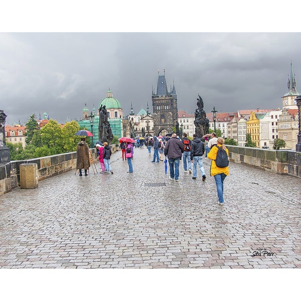 Stewart Parr 'Charles Bridge in Prague Czech Republic' Unframed Photo Print