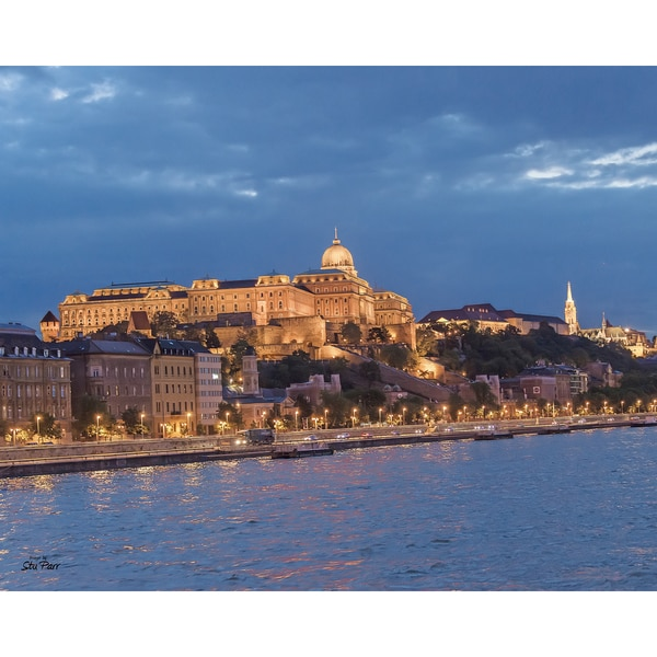 Stewart Parr 'Budapest Palace from the Danube River at night' Unframed Photo Print