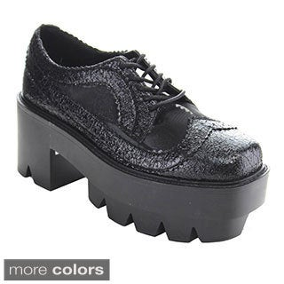 Bumper Rave02 Women's Punk Style Platform Oxfords