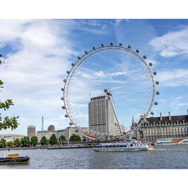 Stewart Parr 'London Eye on the Thames River - Across the river during the Day' Unframed Photo Print