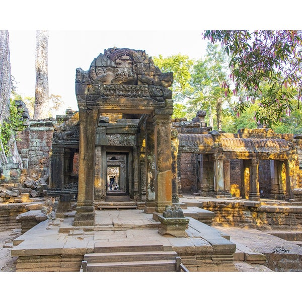 Stewart Parr 'Ta Proham templ entrance in Siem Reap, Cambodia' Unframed Photo Print