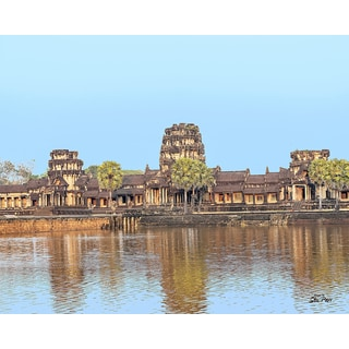 "Stewart Parr ""Angkor Wat front right view in Siem Reap, Cambodia"" Unframed Photo Print"