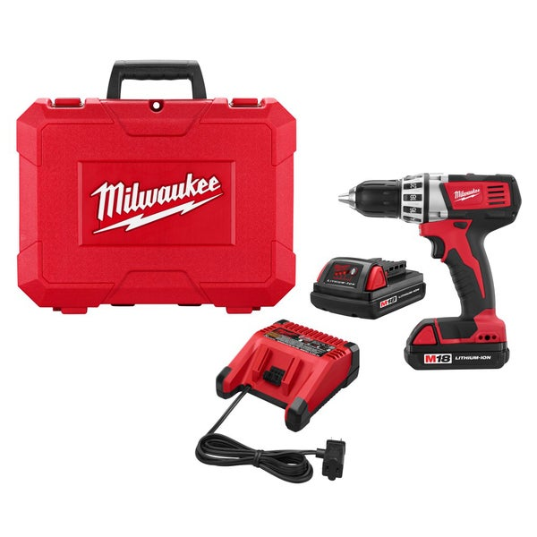 Milwaukee 2601-82 18-Volt Li-Ion Compact Drill Kit (Refurbished)