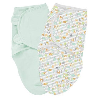Summer Infant SwaddleMe Cotton Knit Large (Set of 2 - Alphabet Soup)