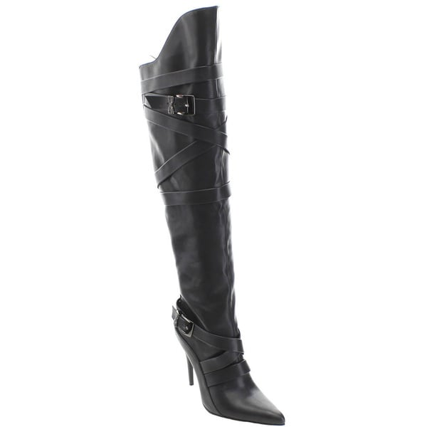 Wildrose Demetria04 Women's Pointy Toe Stiletto Over the Knee High Boots