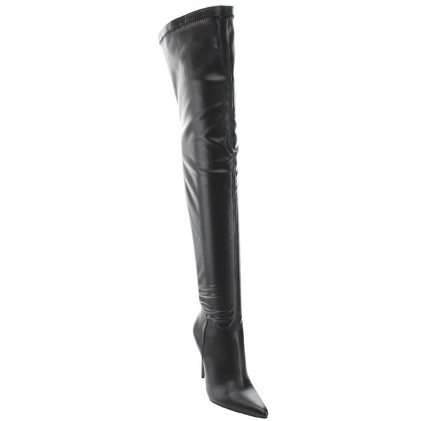 Wildrose Demetria05 Women's Pointy Toe Stiletto Over Knee High Boots