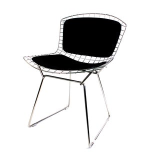The Betty Side Chair with Leather Back and Seat Pads