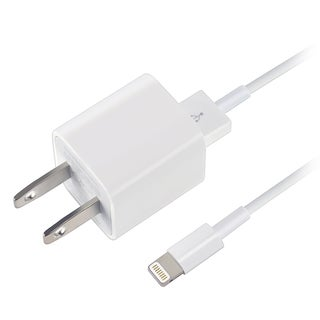 Apple OEM White USB Travel Charger Adapter With 8-pin Lightning Cable MD818ZM/A For iPad/ iPhone 5/
