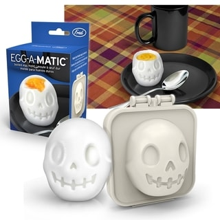 Fred & Friends EGG-A-MATIC Funny Cute Boiled Egg Sushi Rice Bento Maker Silicone Skull Mold