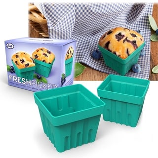 Fred & Friends 4-Piece Silicone Fresh Picked Muffin Cupcake Baking Cups