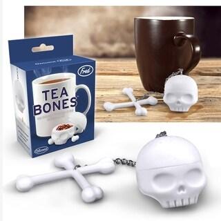 Fred & Friends Tea Bones Loose Herbal Tea Leaves Silicone Skull Tea Infuser