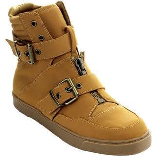 Bumper Women's Nakia01 Buckle Strap Padded Cuff Sneaker Booties