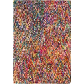 Hand-Hooked Pamela Multi-Colored Cotton/ Polyester Rug (9' x 13')