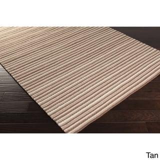 Hand-Woven Lothian Stripe Reversible Wool Rug (8' x 11')