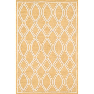 Hand-hooked Hannah Gold/ Ivory Rug (7'6 x 9'6)