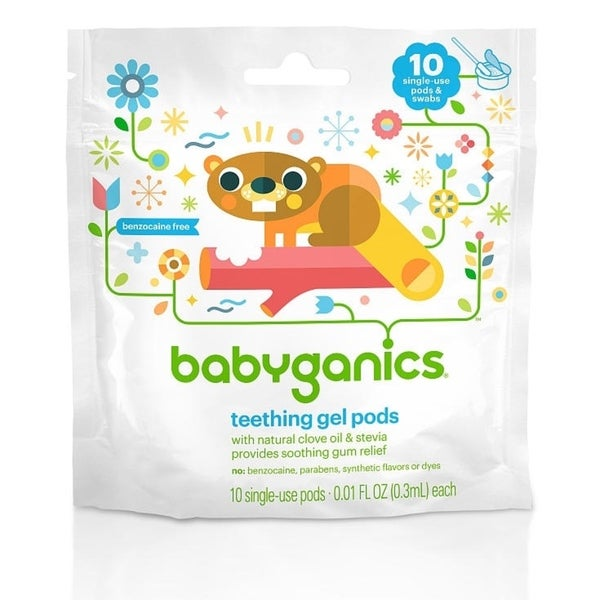 BabyGanics Teething Gel Pods (Pack of 10)