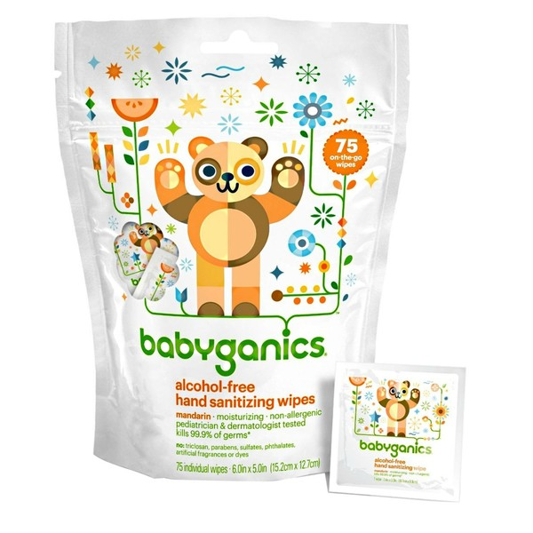 BabyGanics Hand Sanitizer Wipes 75 Count - Citrus