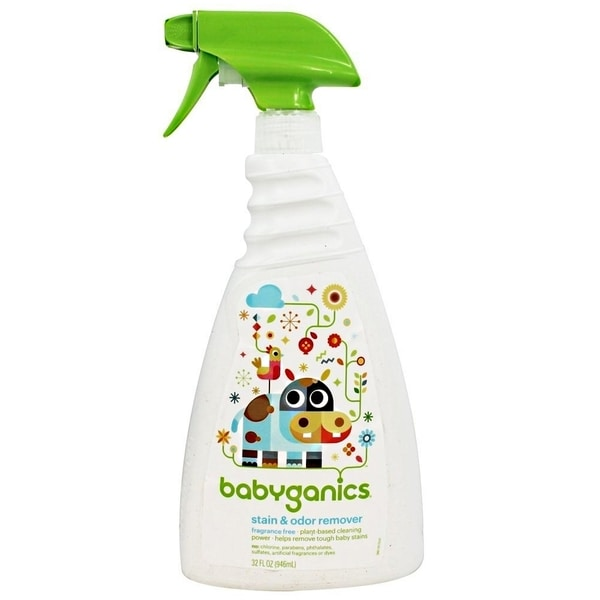 BabyGanics Stain, Stain Go Away 32-ounce Stain and Odor Remover (Fragrance-free)