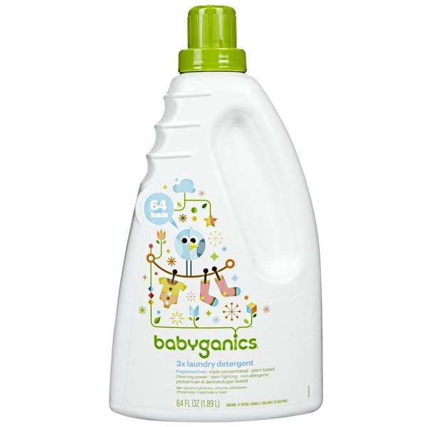 BabyGanics 3X Concentrated Laundry Detergent 64-ounce (Fragrance-free)