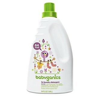 BabyGanics Loads of Love 3X Concentrated Laundry Detergent 64-ounce - Lavender