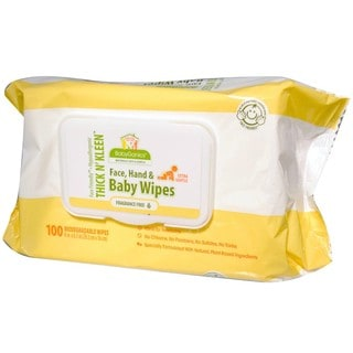 BabyGanics Thick n Kleen Baby Wipes 100 Count Newborn