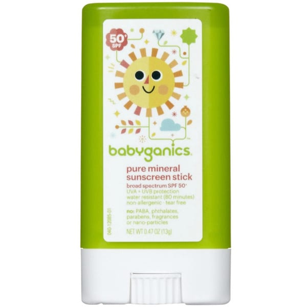 BabyGanics .47-ounce SPF50+ Sunscreen Stick (Fragrance-free)