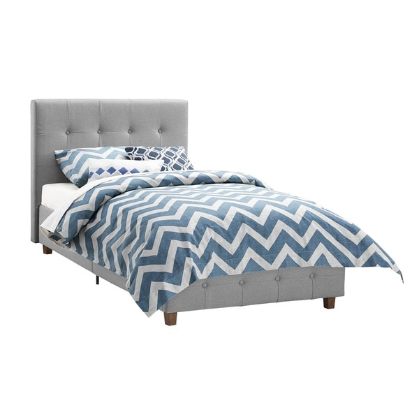 Dhp rose grey linen upholstered twin bed overstock shopping great deals on dhp kids 39 beds Best deal on twin mattress
