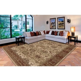Regency Collection Aara White Olefin Area Rug (5'3 x 7'6)