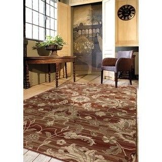Regency Collection Barcley Red Olefin Area Rug (5'3 x 7'6)