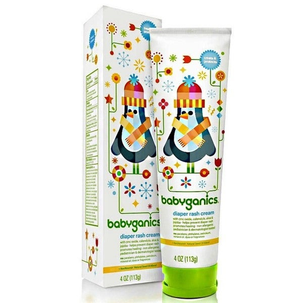 BabyGanics Soothing Diaper Rash Cream - 4-ounce