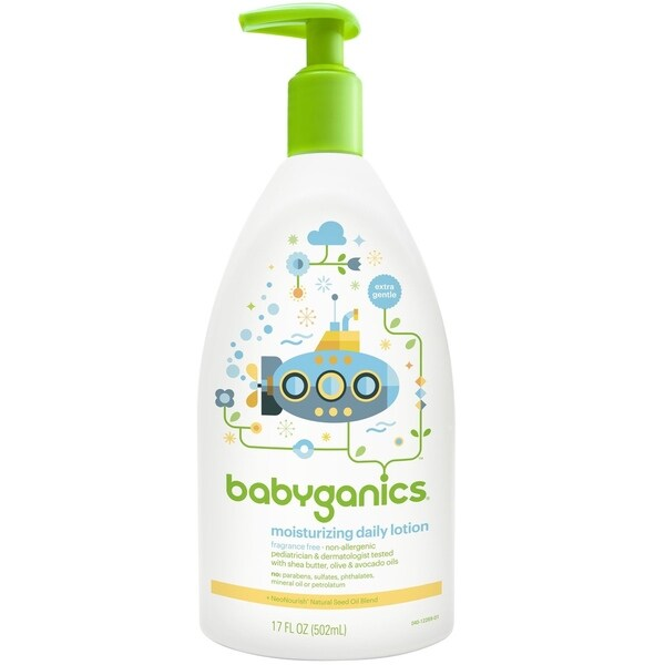 BabyGanics Moisturizing Daily Lotion 17-ounce Fragrance-
