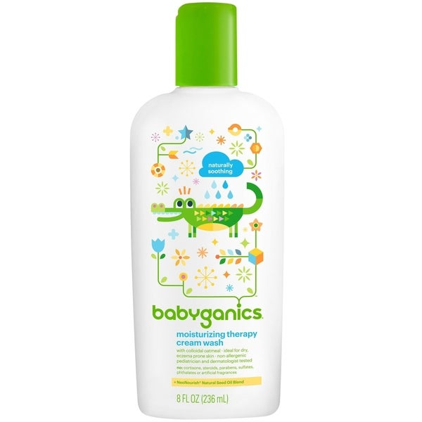 BabyGanics Moisturizing Therapy Cream Wash - 8-ounce