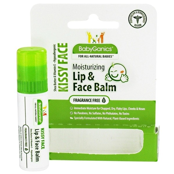 BabyGanics Lip and Face Balm .25-ounce Fragrance-free