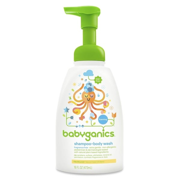 BabyGanics Shampoo and Body Wash 16-ounce (Fragrance-free)