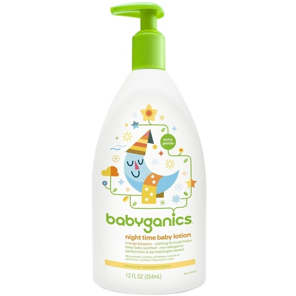 BabyGanics Night Time Baby Lotion 12-ounce - Orange Blossom