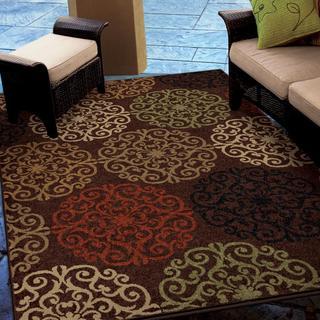 Indoor/ Outdoor Napa Collection Harbridge Brown Indoor/ Outdoor Olefin Area Rug (5'2 x 7'6)