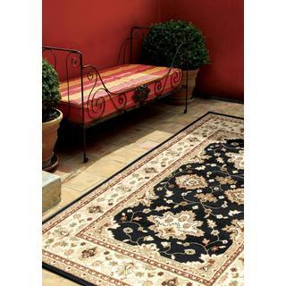 Indoor/ Outdoor Napa Collection Shayd Black Olefin Indoor/ Outdoor Area Rug (5'2 x 7'6)