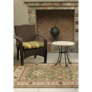 Indoor/ Outdoor Napa Collection Shayd Green Indoor/ Outdoor Olefin Area Rug (5'2 x 7'6)