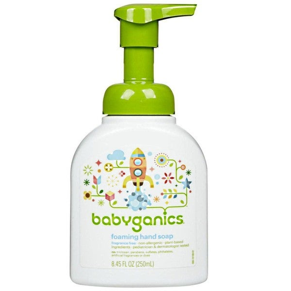 BabyGanics Fine and Handy Foaming Hand Soap 8.45-ounce (Fragrance-free)