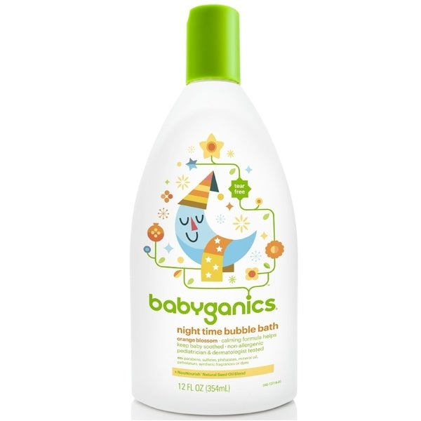 BabyGanics Night Time Bubble Bath Orange Blossom - 12-ounce