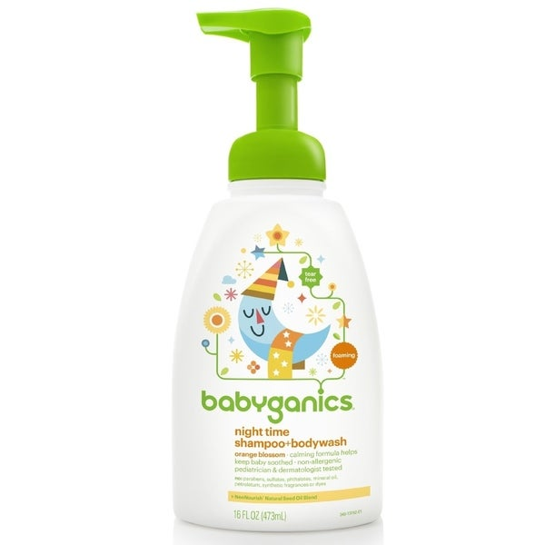 BabyGanics Night Time Shampoo and Bodywash Orange Blossom - 16-ounce