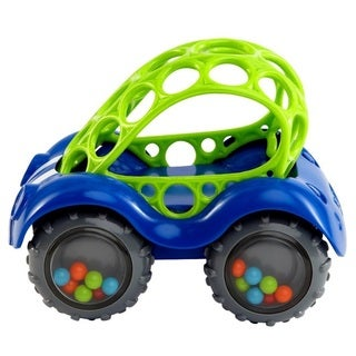 Rhino Toys Oball Rattle and Roll Toy Car - Blue