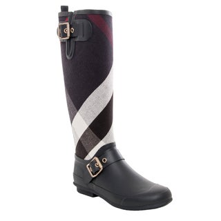 Burberry Birkback Check Knee-high Rain Boots