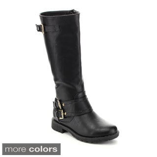Kids Zone Big Girl's BOOTS-01 Ankle Strap Comfy Riding Boots